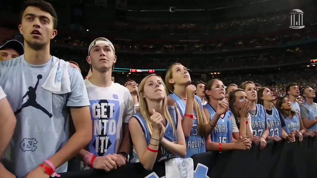 We couldn't do a feature on athletics at #UNC without highlighting our incredible Tar Heel fans who have been there along the way. Here's a #TBT to a little moment in 2017 when Franklin Street became a sea of Carolina blue 💙🏆 https://t.co/VfMsqKjQfP