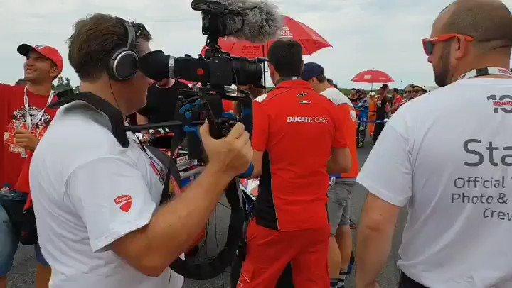 Image for the Tweet beginning: #worldducatiweek grid #raceofChampions @pramacracing @Petrux9 @jackmilleraus
