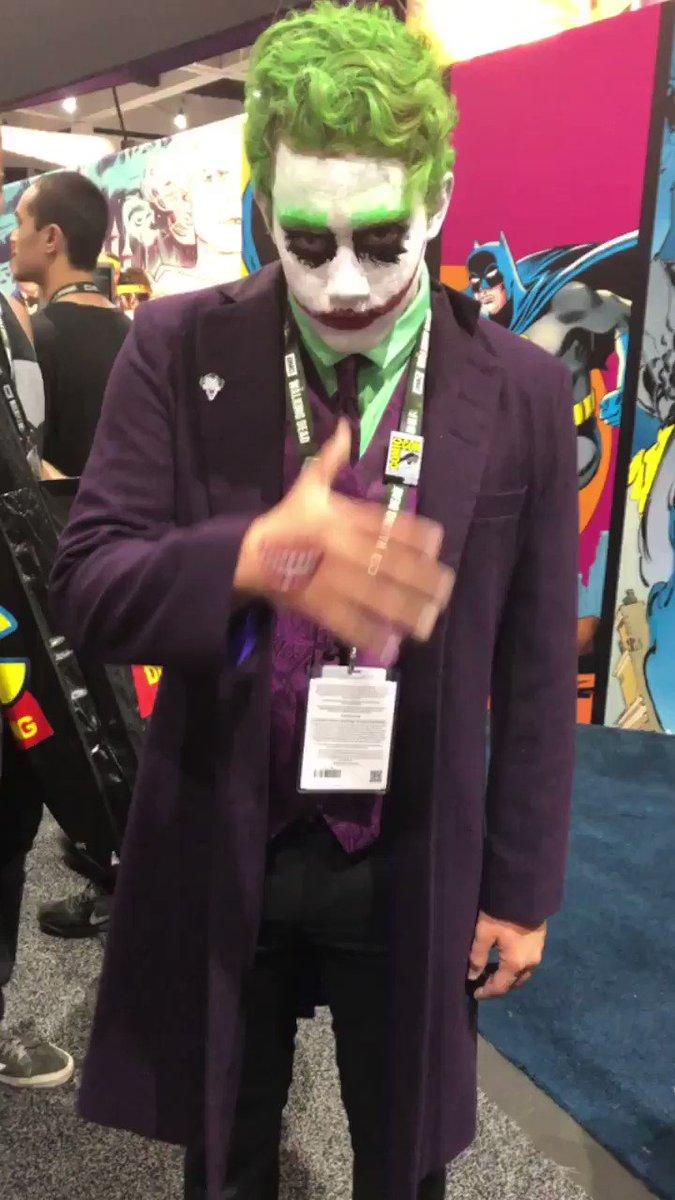 Smile. #Joker #SDCC2018 https://t.co/HUIUYJOzDU