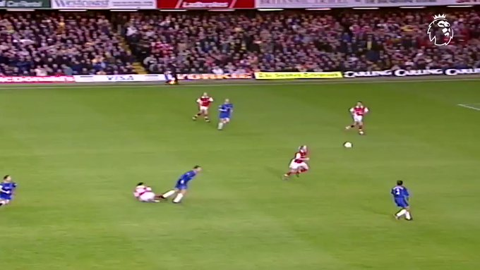 Nwankwo Kanu hattrick vs Chelsea.  Happy birthday Kanu !!