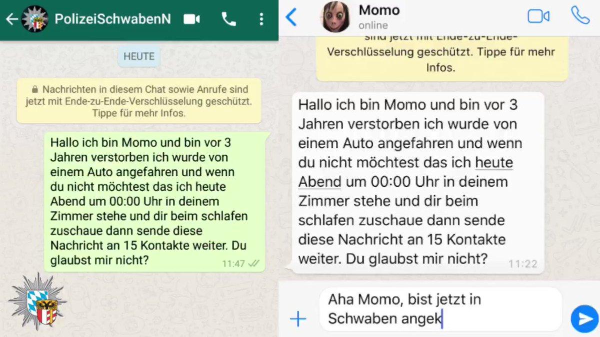 Momo Kettenbrief Text