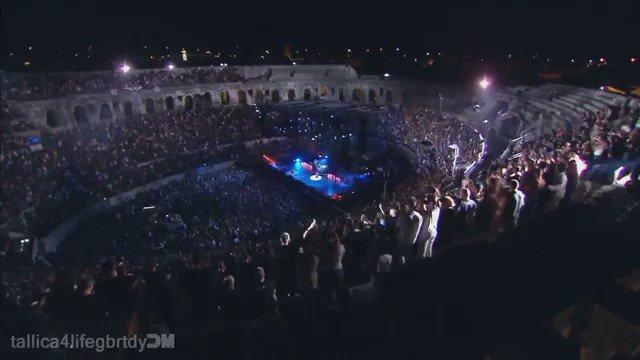 "Happy birthday to James Hetfield !  - \""Enter Sandman\"" Live Nimes 2009"