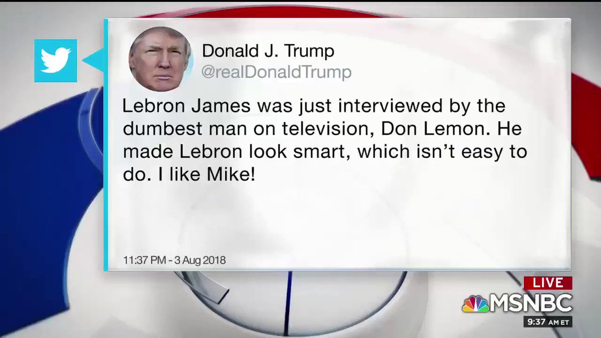 Wondering if @KingJames has an open enrollment at @IPROMISESchool. Perhaps @realDonaldTrump could take an ethics class on how to speak to human beings! More via my debut at @MSNBC today with @chueyburns @eugene_scott @alexwitt @davidgura  #LeBronJames #Trump