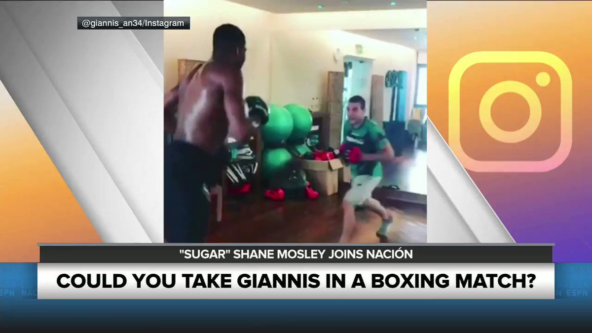 COULD YOU TAKE GIANNIS IN A BOXING MATCH? 🏀🥊 #NacionESPN2 #Giannis #Boxing