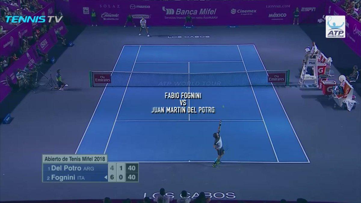Nonchalant from @fabiofogna in the @AbiertoLosCabos final ��    �� @TennisTV https://t.co/74CejqOx6M