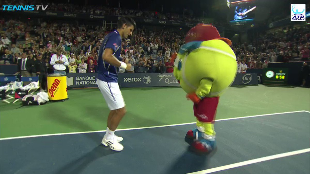 We're underway...��  @DjokerNole   �� @TennisTV #RogersCup https://t.co/zJP3D0pZCO
