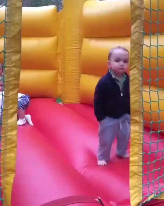 Bouncing enthusiastically into the workweek like this kid 😂