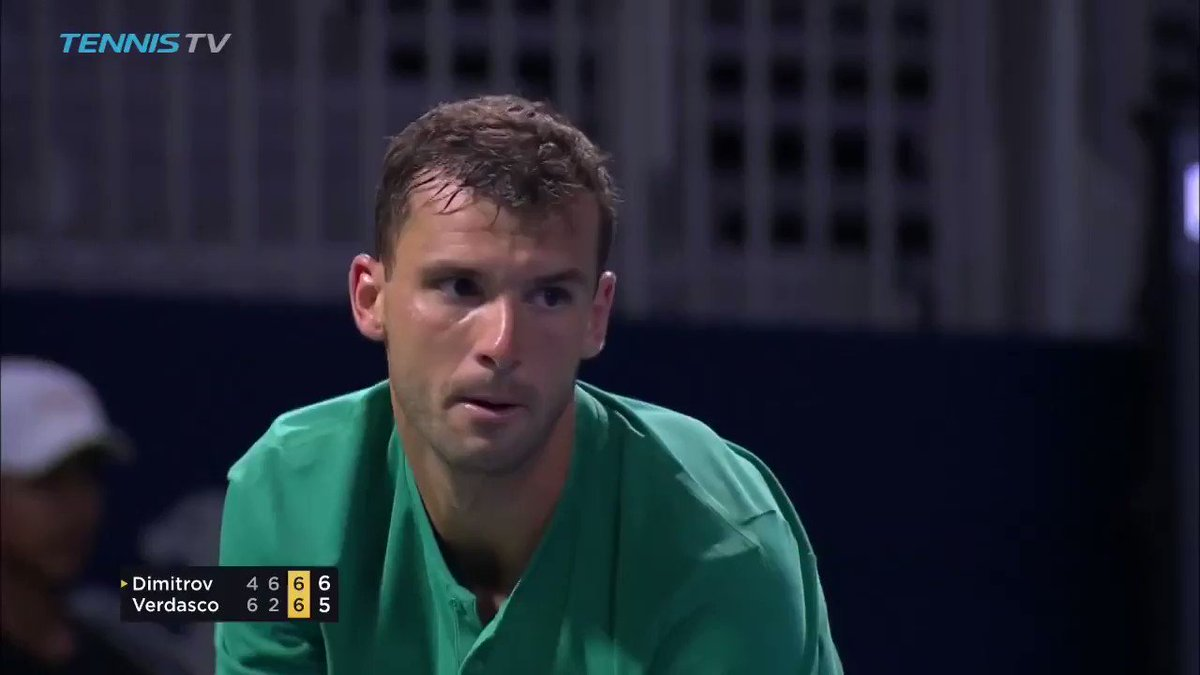 Name something shorter than this rally? ⏱  What a way for @GrigorDimitrov to win the match ��  �� @TennisTV https://t.co/cAHOgx9jgd