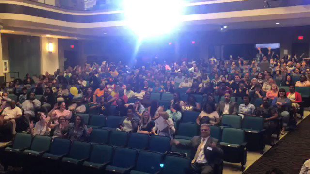 We're back! Excited to have all our 2018-19 teachers and staff back and under the same roof!