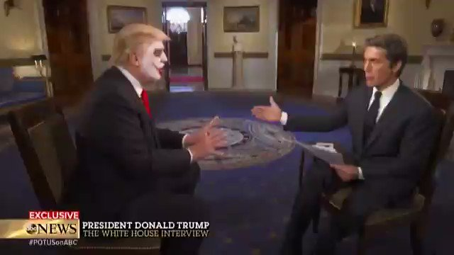 I don't know who put the Joker's face on Donald Trump's but my God it's perfect