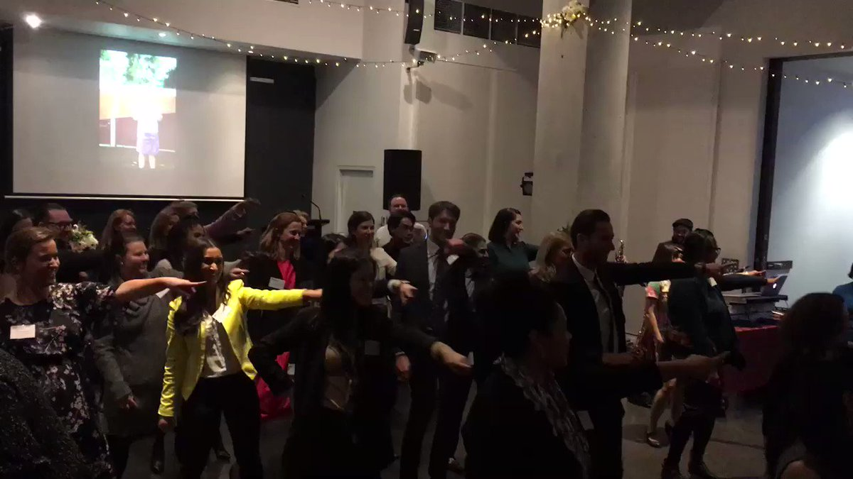 Demand to retire like @JennyMcGregor2! The inspirational @AIIANational Fellow is farewelled by a #flashmob of @Asialink_au @asiacapable staff