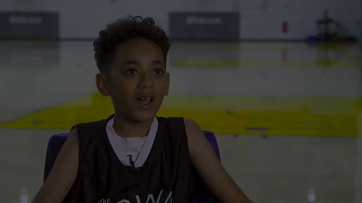 """""""It's such a great experience. You get to meet new friends, you get to improve your skills & overall have a good time."""" Get an inside 👀 at Warriors Basketball Camp, as told by AJ!"""