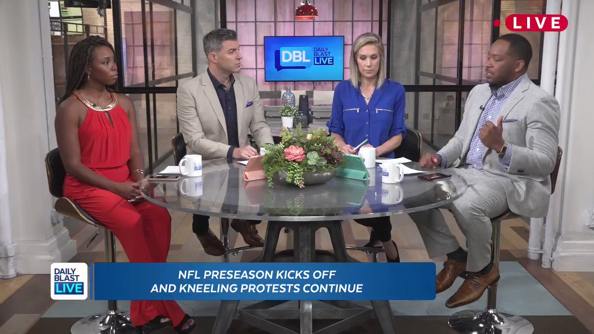 Discussing the #NFLprotests, Daily Blast Live co-host @aljackson gives a passionate response on Veterans in the U.S. today. youtu.be/enAxMAIXvsk @BrandonLondonTV @jeffschroeder23 @ericacobb @samschacher #Vets #NFLPreseason @NFL @FS1 @SportsCenter @ESPN @realdonaldtrump #POTUS