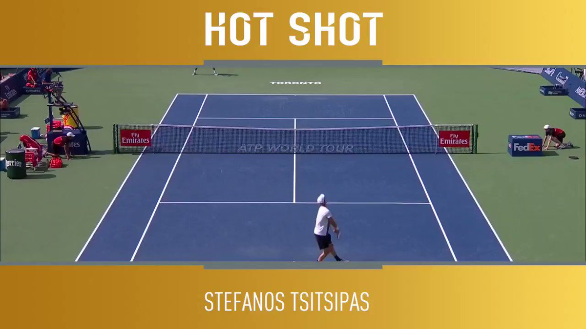 Precision + power = THIS ��  �� @StefTsitsipas   �� the @rogerscup live on @TennisTV https://t.co/U7ejIn3GpR