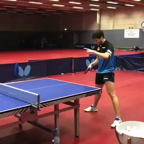 Forehand training with @dimaovtcharov 🏓 #TrainLikeAPro