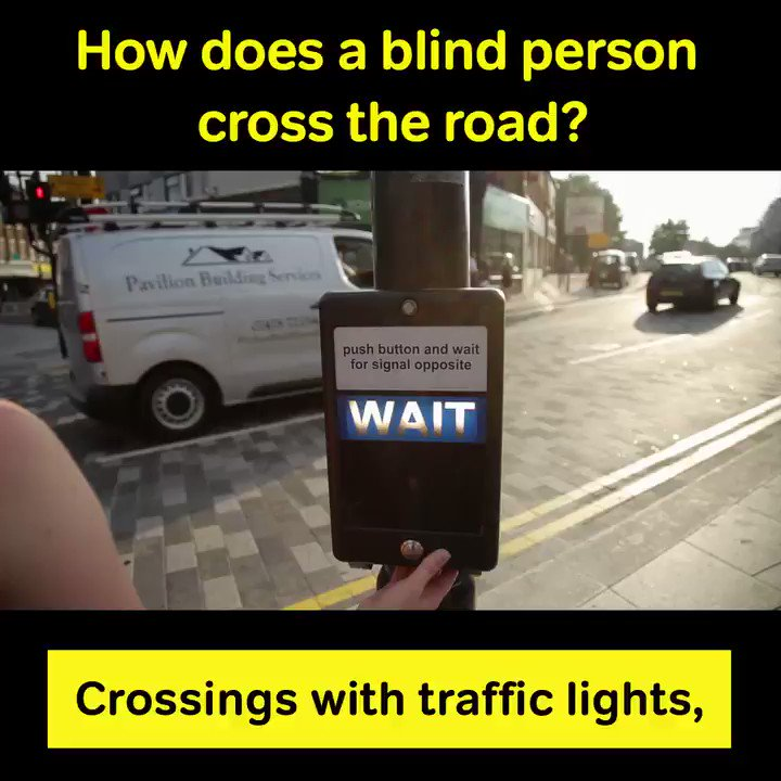 Did you know about the secret buttons under traffic light controls to help blind and partially sighted people cross the road? #SafeToCross #TravelTuesday