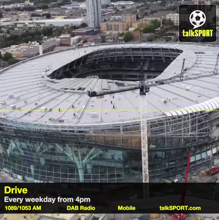 """Did we all just know Spurs wouldn't do their stadium right. Typical Spurs."" @talkSPORTDrive mocks #THFC over their new stadium problems 👀😂"