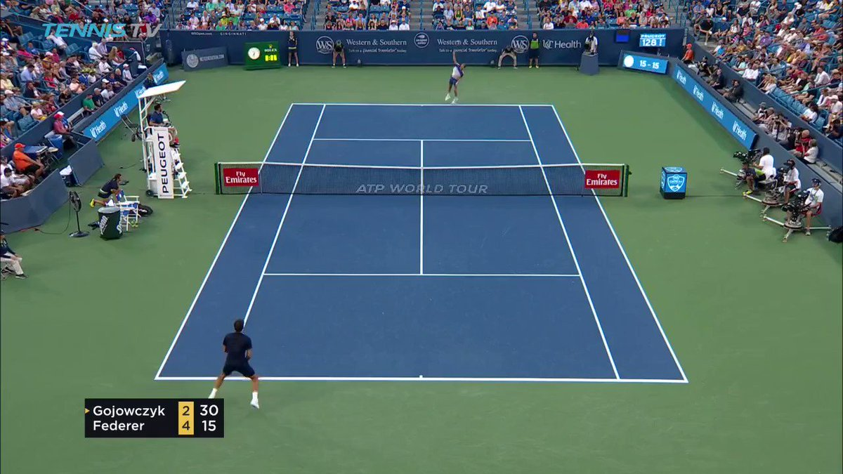 Making it look easy...  Vintage @rogerfederer ��  �� @TennisTV https://t.co/rMAGg8miQf