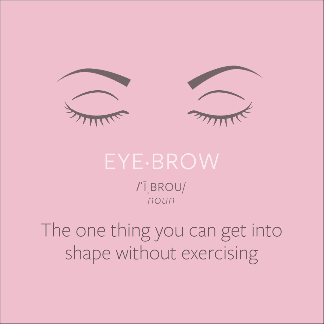 Who needs exercise when you have perfect brows? 😘 #SevaBeauty