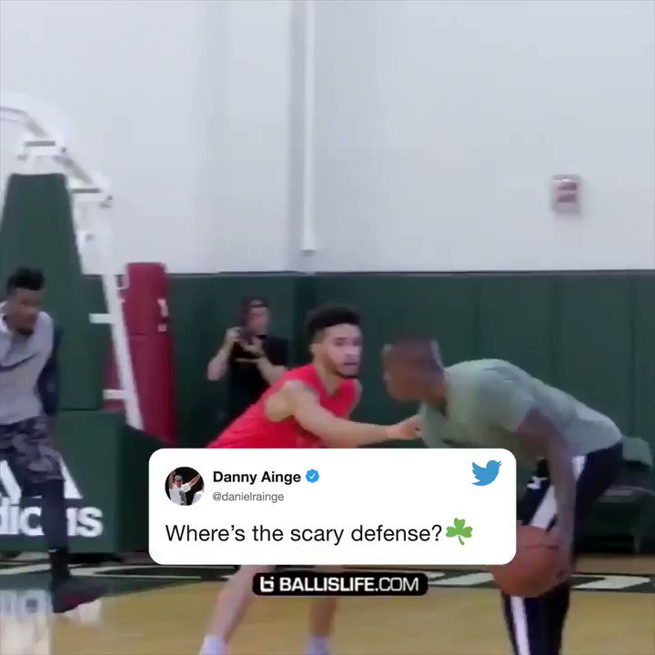 Danny Ainge is just wondering where the defense is at 😂 (🎥: @Ballislife)