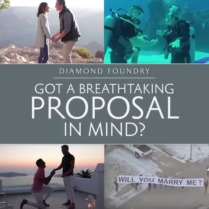 Image for the Tweet beginning: Enter @diamondfoundry's #PerfectProposal contest for