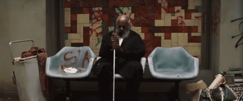 In 'The Matrix' (1999), Morpheus nods at the blind man in the lobby of the Oracle and he nods back