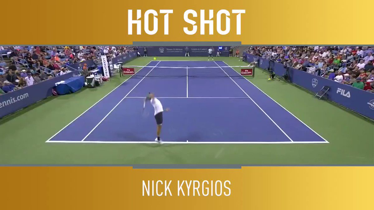 Who'd like to see @NickKyrgios in the latter stages of @CincyTennis? ��  Here he is at his brutal best ��  �� @TennisTV https://t.co/TLBpTsxiJL