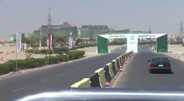 بالفيديو ... زيارة الرئيس عبد الفتاح السيسي لمصنع #حديد_المصريين ببني سويف