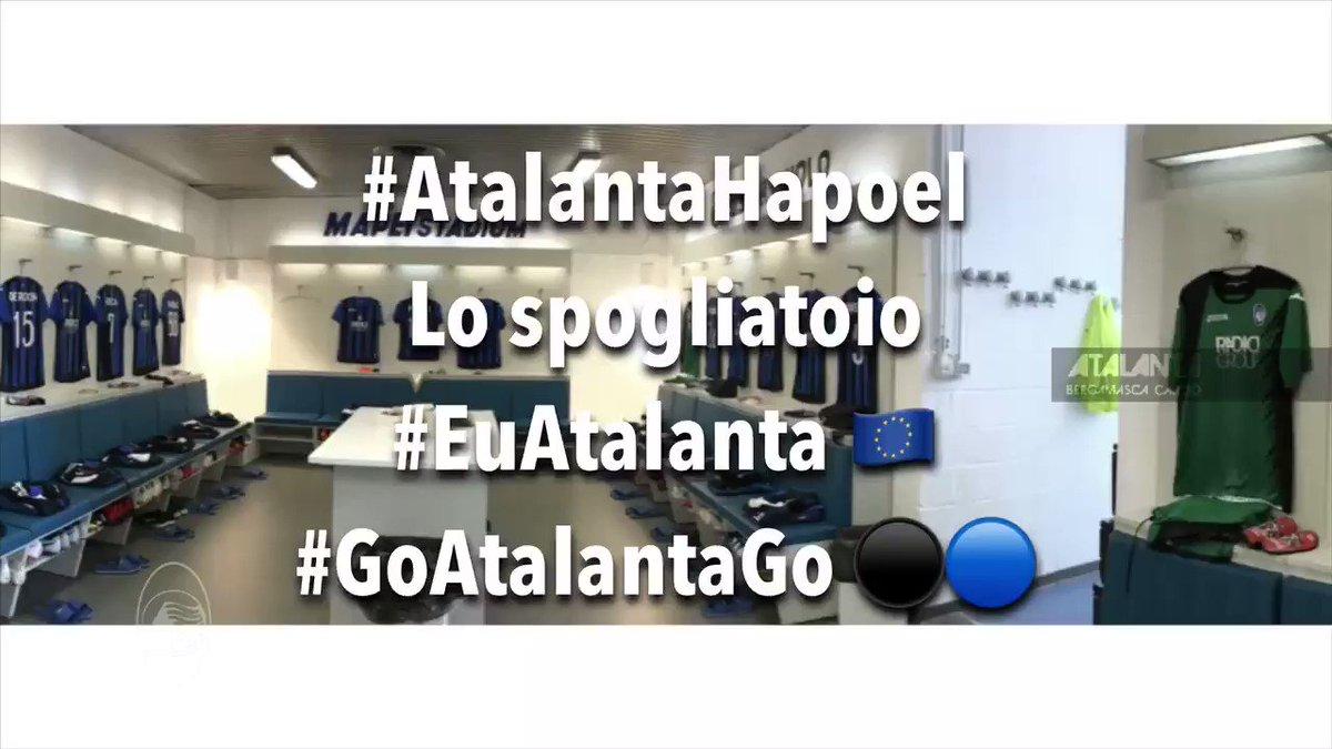 Tutto pronto per #AtalantaHapoel  Entriamo insieme nel nostro spogliatoio #EuAtalanta #GoAtalantaGo  - Ukustom