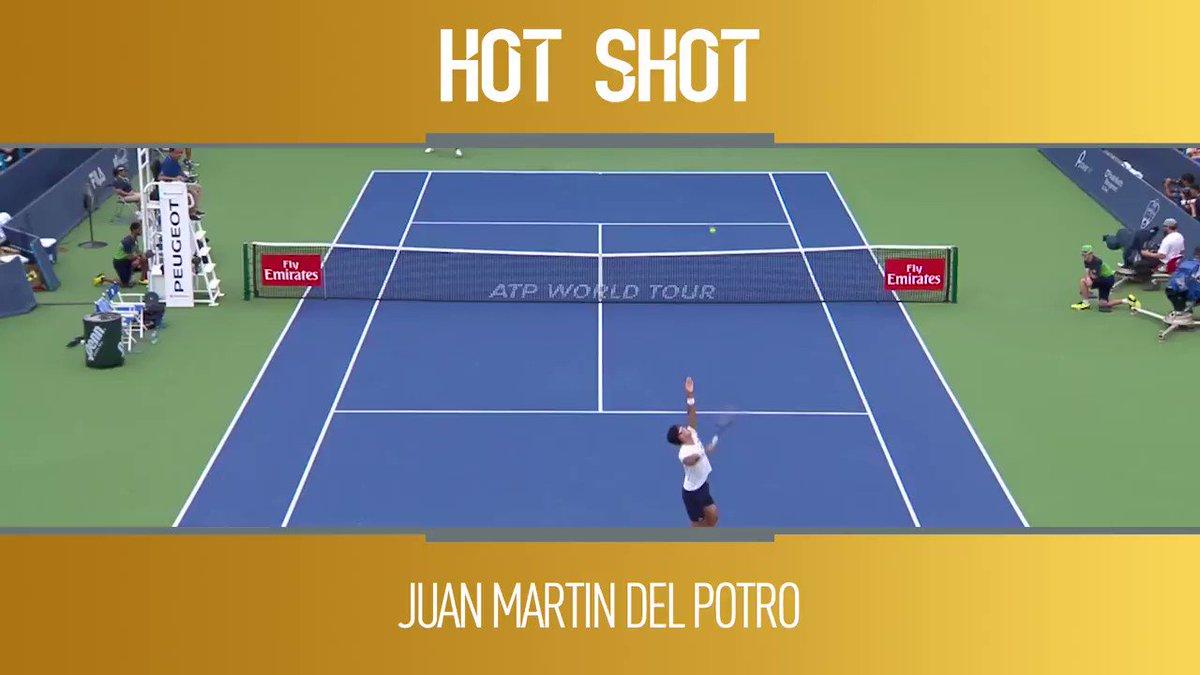 ⚠️ WARNING ⚠️   @delpotrojuan packed his monstrous forehand this week for @CincyTennis ��   �� : @TennisTV https://t.co/hyTOG6Cv2G