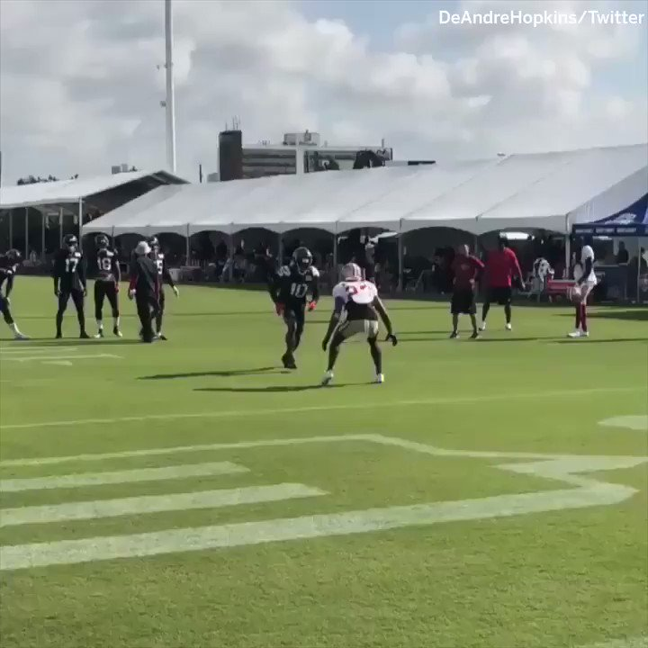Wednesday: @DeAndreHopkins was kicked out of practice after a scuffle.  Thursday: �� #SCtop10 https://t.co/C0mKx1nzoB
