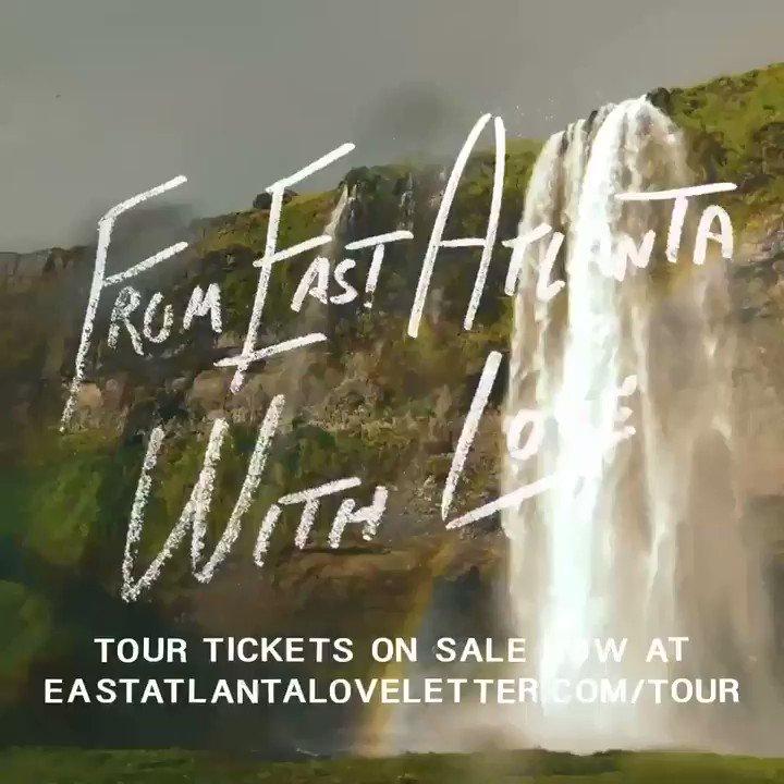 from east atlanta with love tour. tickets on sale now eastatlantaloveletter.com/tour 💌