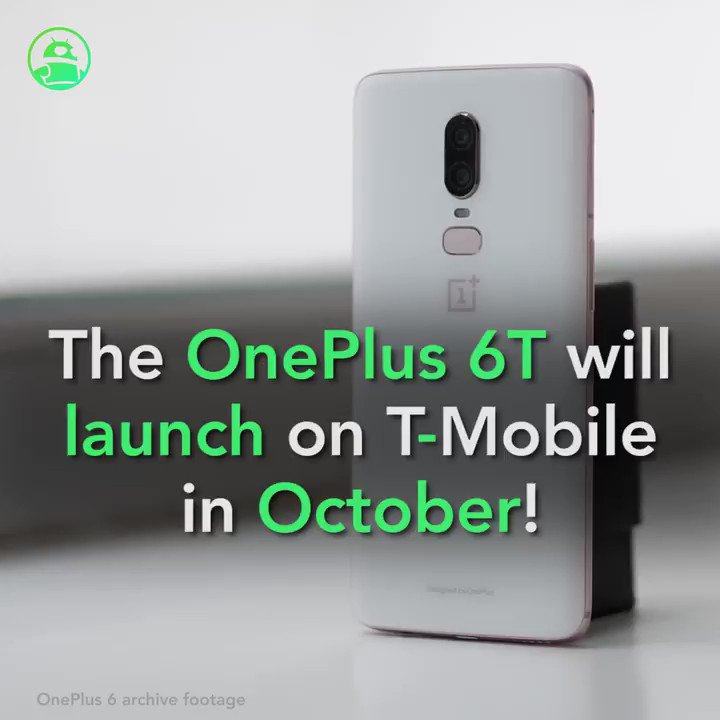 Image for the Tweet beginning: The OnePlus 6T will launch
