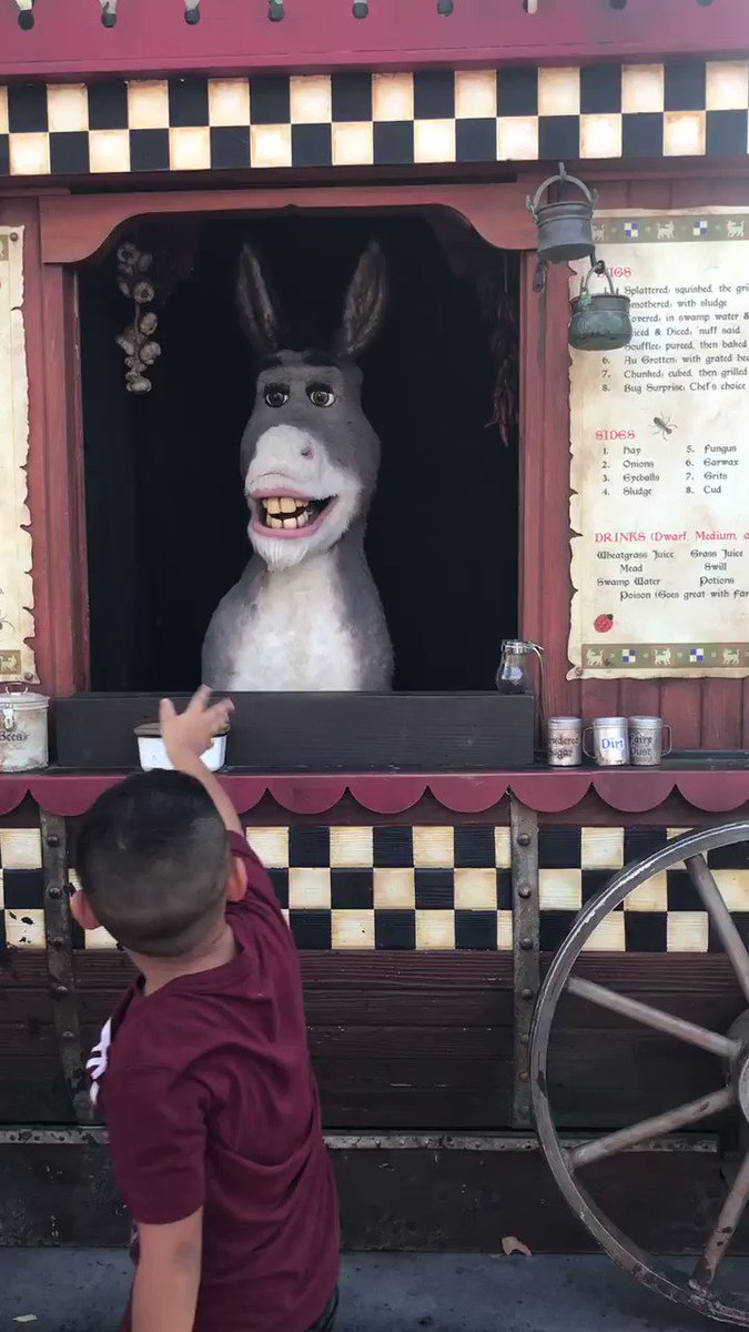 This was me trying to explain to Donkey how to pronounce my name and this was the result