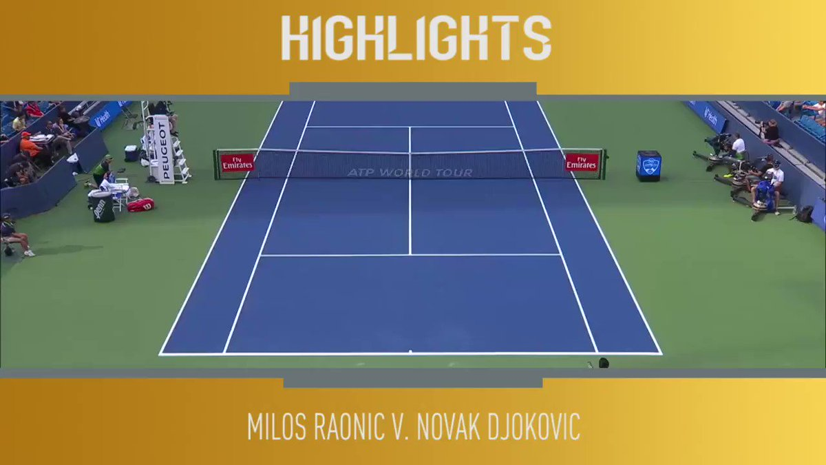 2⃣ more wins = Golden Masters 🌟 Here's the best bits from @DjokerNole's victory over @milosraonic 👀 🎥 @TennisTV