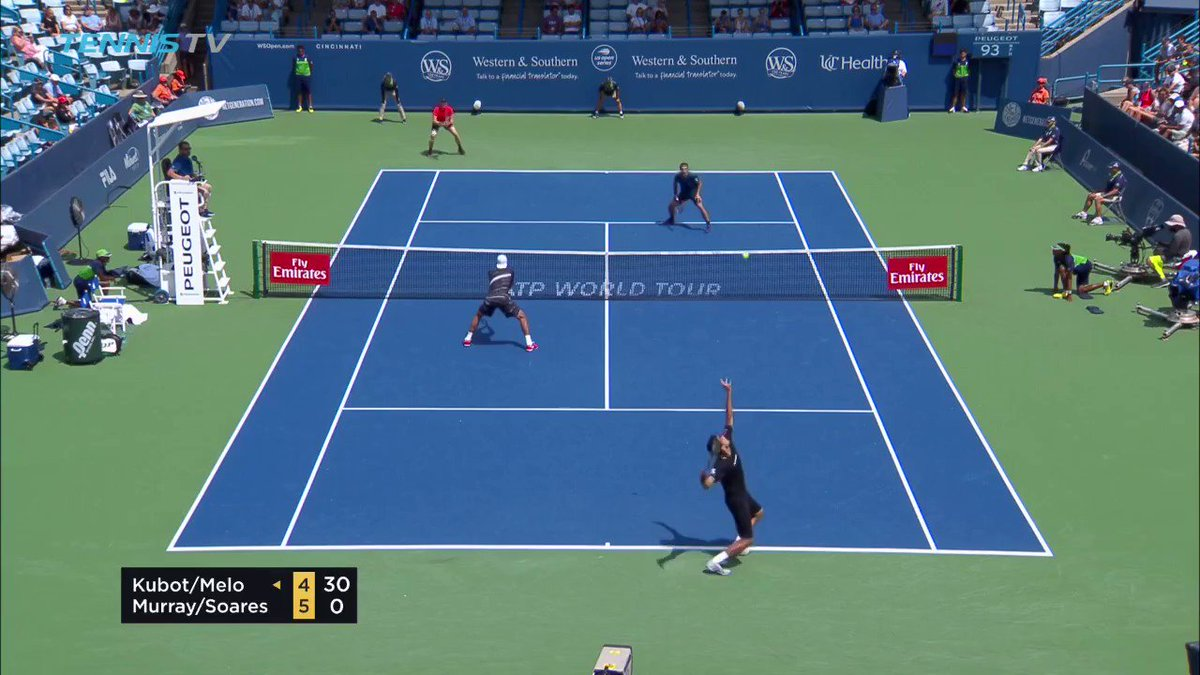 Doubles tennis at its absolute best 💥 For anybody new to the sport, please watch the video 😎 🎥 @TennisTV