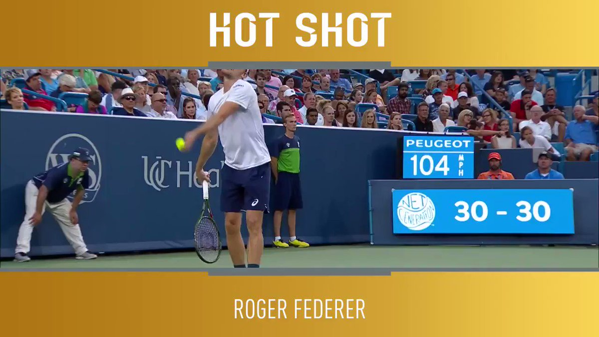 Absolute ������  Just sit and admire this forehand from @rogerfederer ��  �� @TennisTV https://t.co/osrHzk7qyK