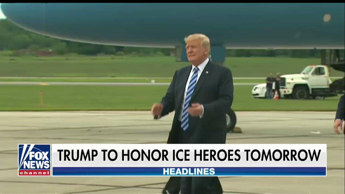 President @realDonaldTrump to honor ICE heroes tomorrow https://t.co/pSxsHXK8AO