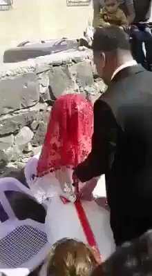 💥WATCH💥Mus1im Wedding Day~ a child bride in an arranged marriage to a much older man, gets slapped so she knows her place & everyone claps  From the so called ReIigion of Peace  They're Mus1im so they get a pass from the Liberals🤬  RETWEET👉If You Agree