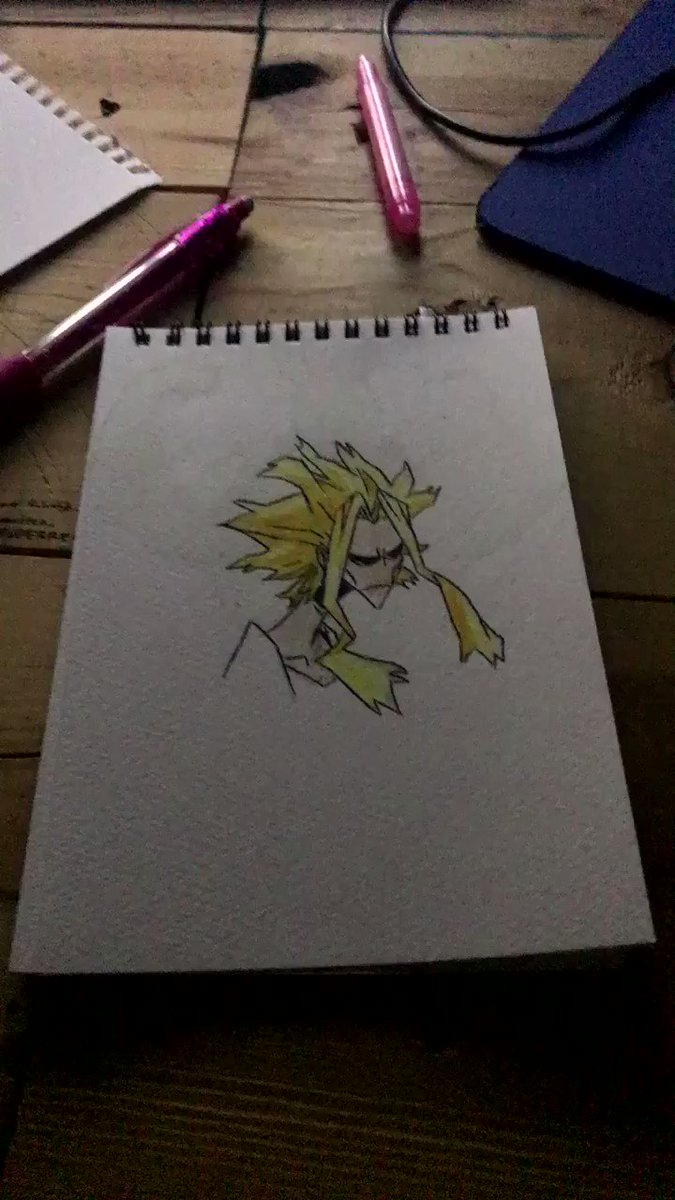 All might. - done with a magic marker.