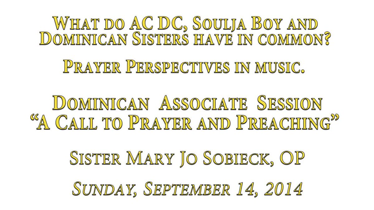 What do Rock 'n Roll, Hip Hop and Dominican Sisters have in common? Let Sister Mary Jo explain #Prayer Perspectives in music. See the full Dominican Associate Session, A Call to Prayer and Preaching, here: springfieldop.org/sister-mary-jo/ #MondayMotivation