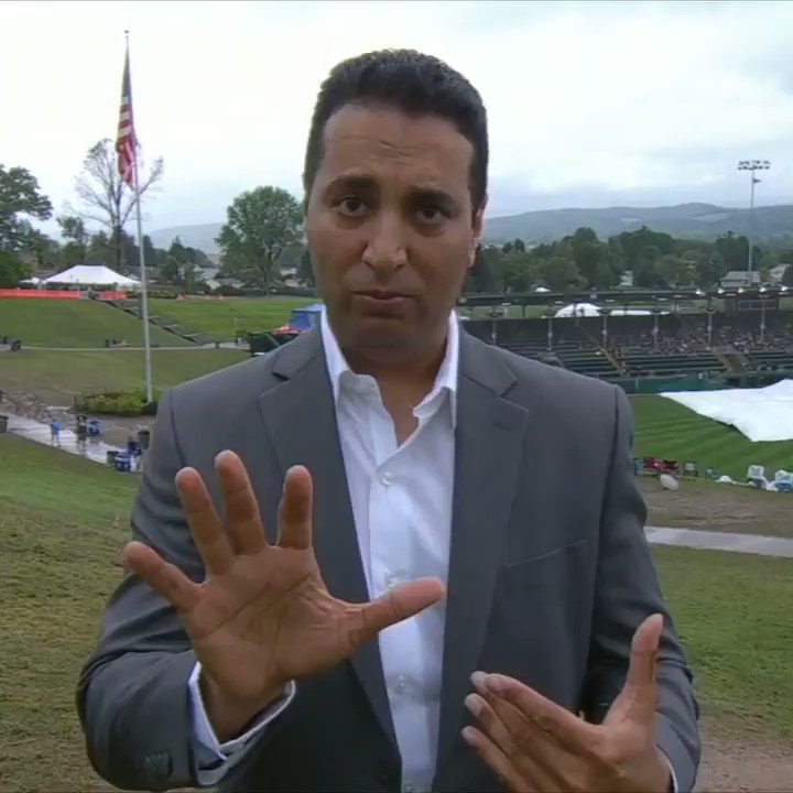 .@KNegandhiESPN skipped the cardboard and went straight down the hill in his suit 😂