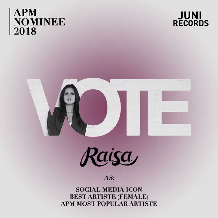 So excited to be APM Nominee this year!! Vote me via toggle.sg/apm as Social Media Icon, Best Artiste (Female), and APM Most Popular Artiste! Vote yang banyak yahh 💚