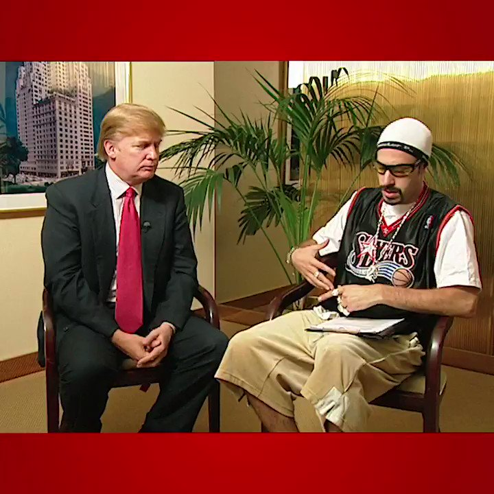 Sacha Baron Cohen shares an impressively awkward video of Ali G interviewing Trump