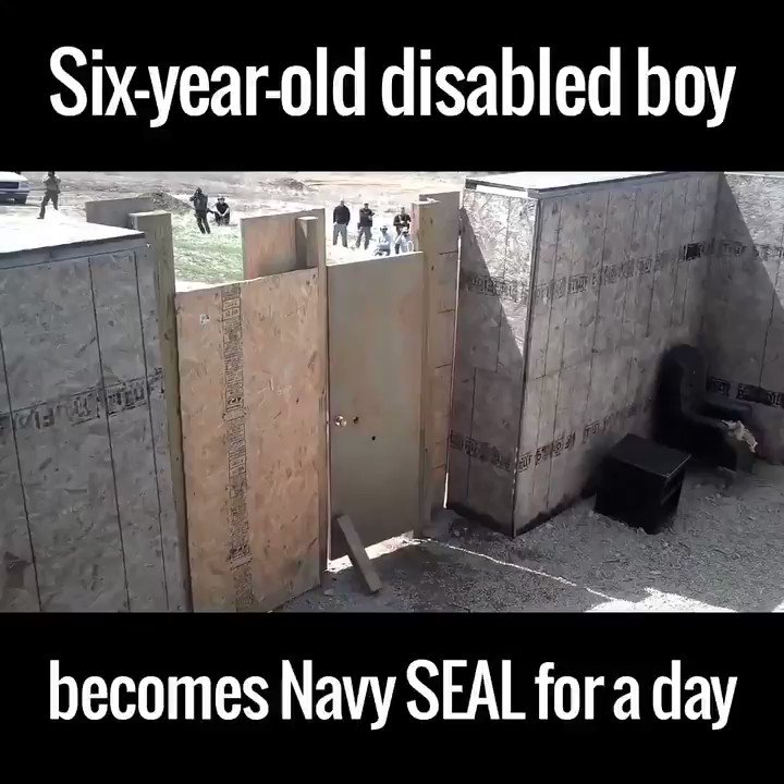 This is awesome. A six year old disabled boy became a Navy Seal for a day.