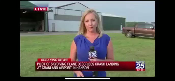News reporter says 'flux capacitator' was the potential cause of a plane crash