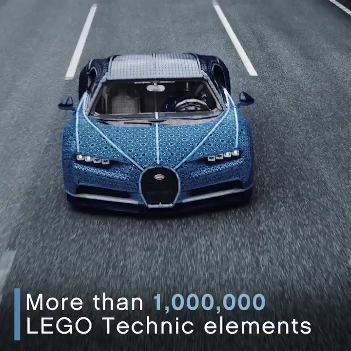 We've built the impossible: a full-sized LEGO Technic @Bugatti Chiron …and it drives! #BuildforReal