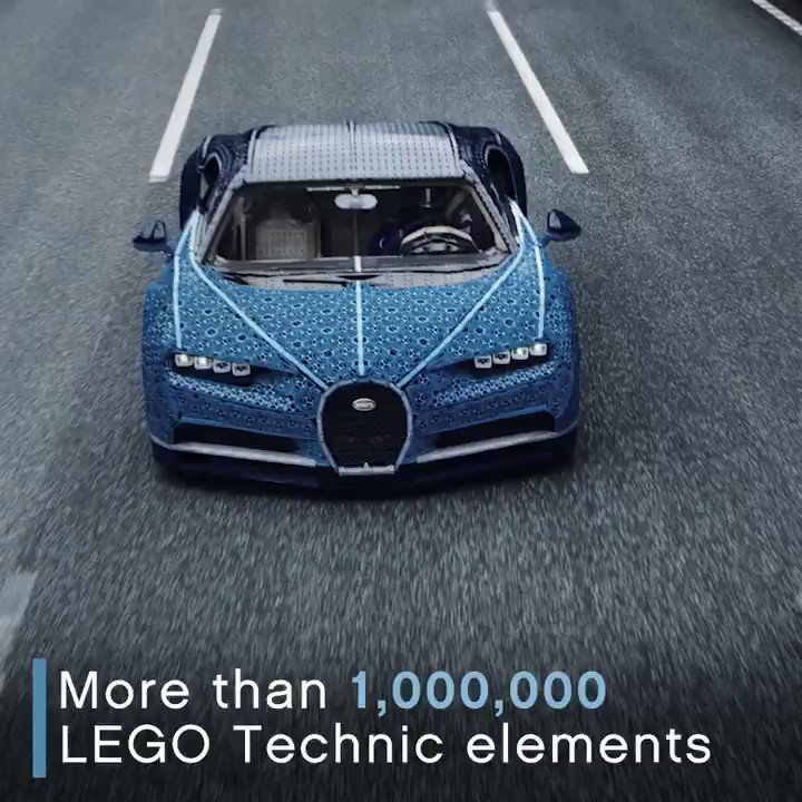 BUGATTI and @LEGO_Group achieved the impossible: a full-sized LEGO Technic Bugatti Chiron that drives! #BuildforReal #BUGATTI #Chiron #LEGOTechnicBugatti