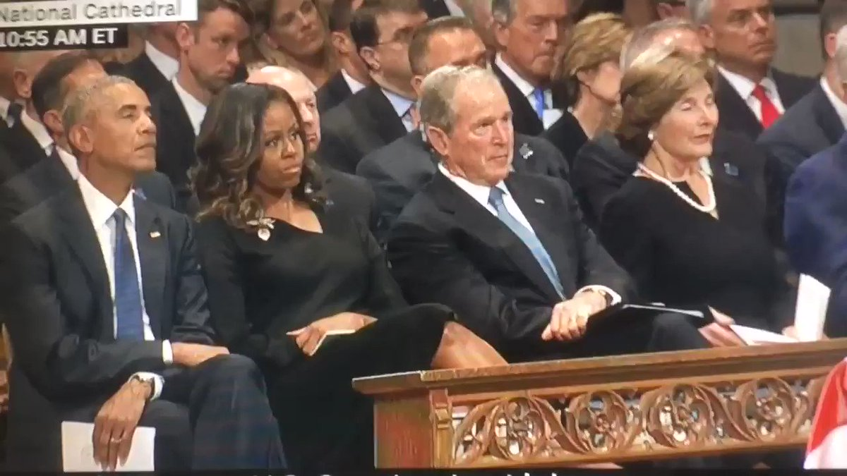 Ivanka texting at McCain's funeral. Why am I not shocked.