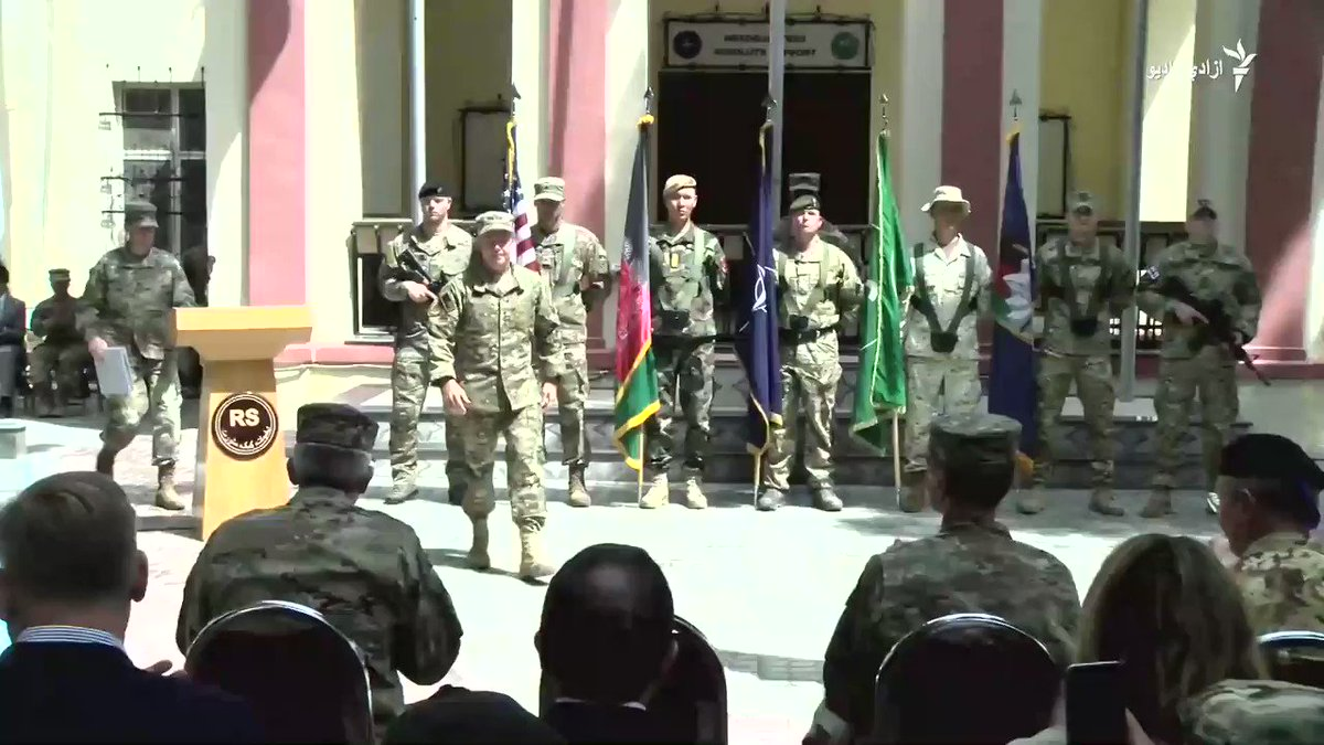 General Scott Miller becomes new @ResoluteSupport commander in #Afghanistan. We must maintain pressure on them. We must ensure terrorists can never use Afghanistan as a safe haven to threaten the world, he said. Afghan NSA @hmohib said Kabul is committed to eradicate terrorism.